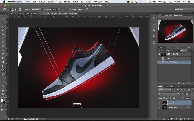 Shoe Product Photoshop (1)