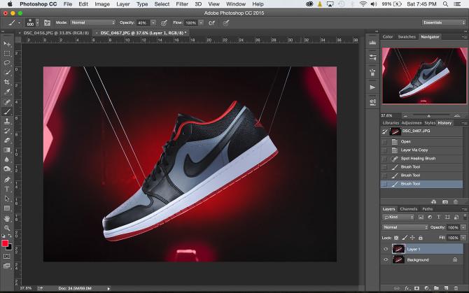 Shoe Product Photoshop (3)