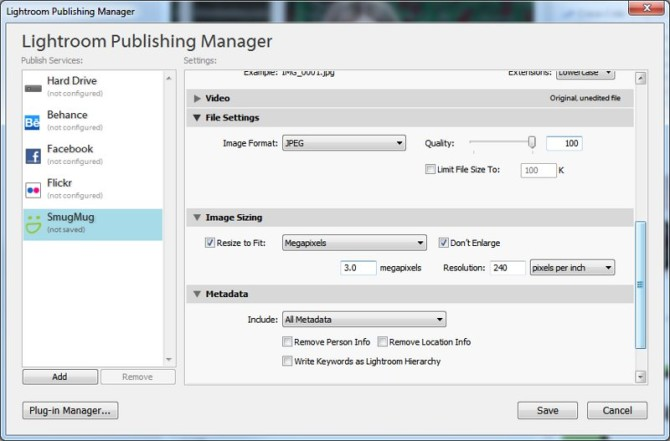 Upload settings for a smaller faster upload. Here set to 3mp upload with is about the same as a smart phone these days