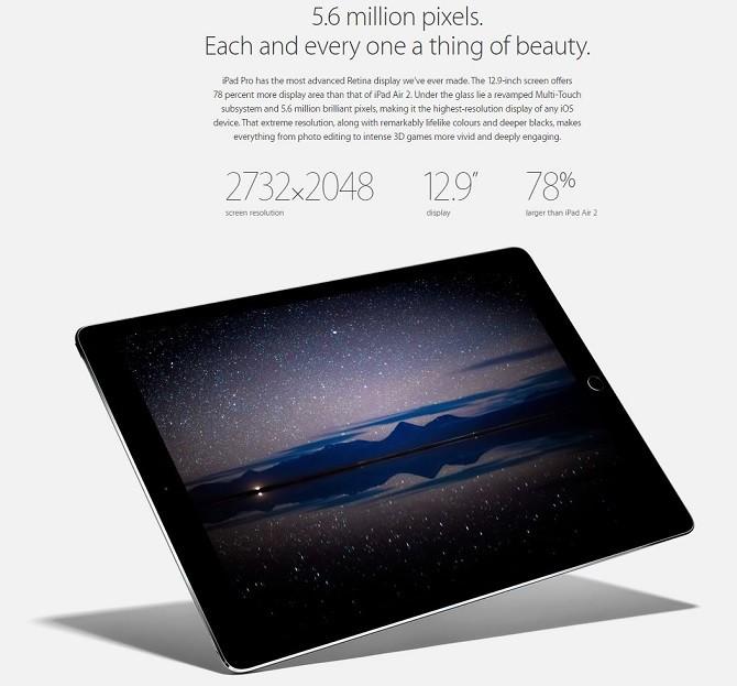 Apple iPad Pro versus Microsoft Surface Pro 3 screen resolution review