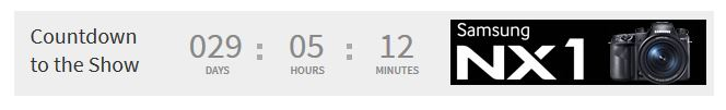 The countdown timer on the Photoplus website
