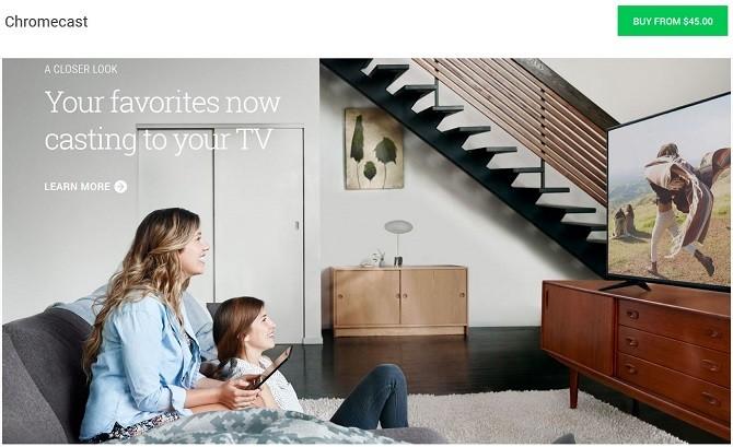 Google Chromecast promotional image