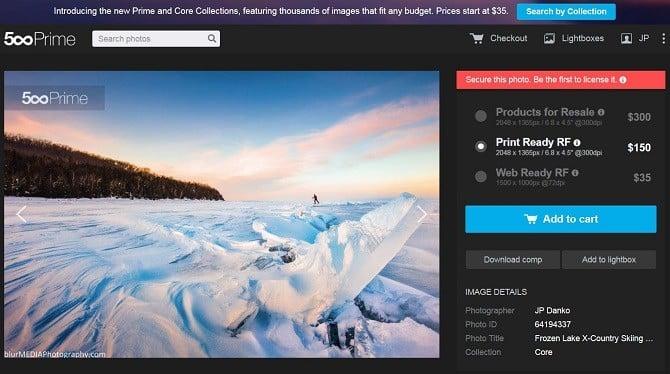 JP Danko 500px Prime marketplace sale license