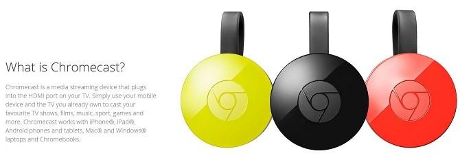 google chromecast hardware