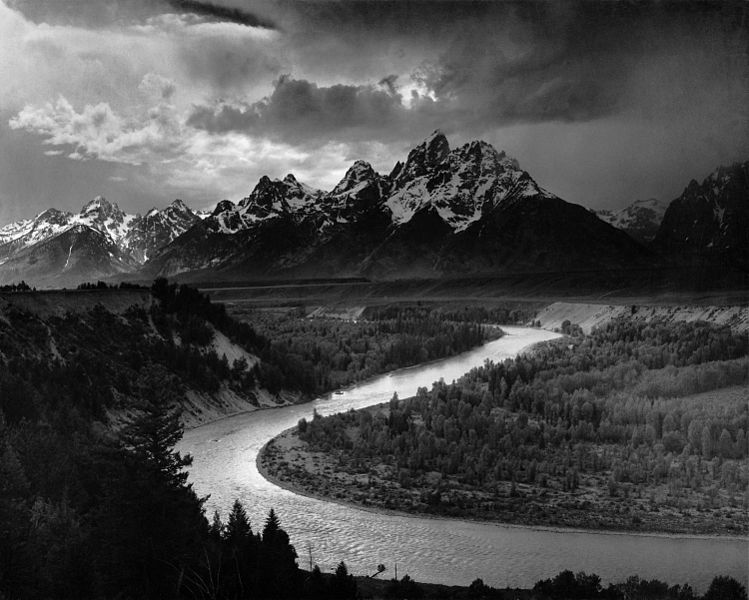 The Tetons and the Snake River (1942). Taken by Ansel Adams while he worked for the NPS