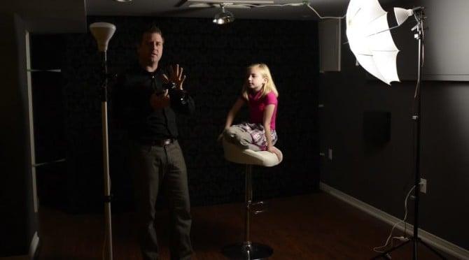 Hardware Store LED 3 Light Portrait Key Light Camera Setting