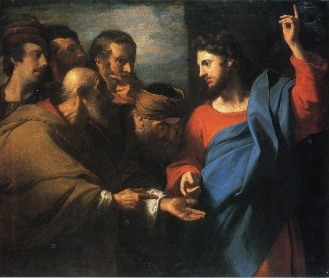 John Singleton Copley – The tribute money (from ArtRenewal.org)