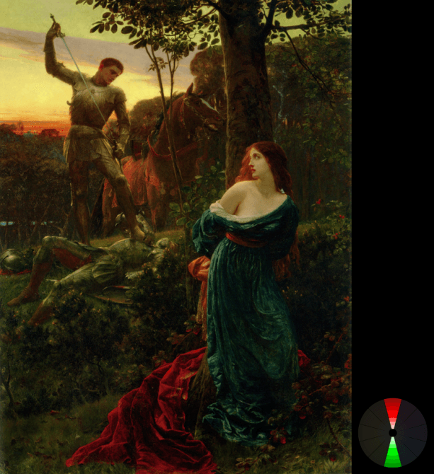 Frank Dicksee- Chivalry (from ArtRenewal.org)