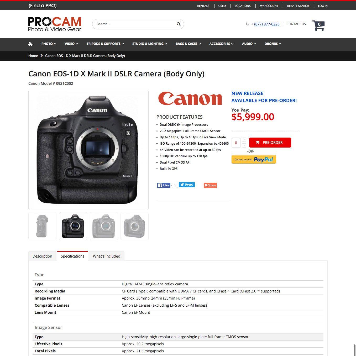 CanonEOS1DXMarkIIDSLRCameraSPECS1