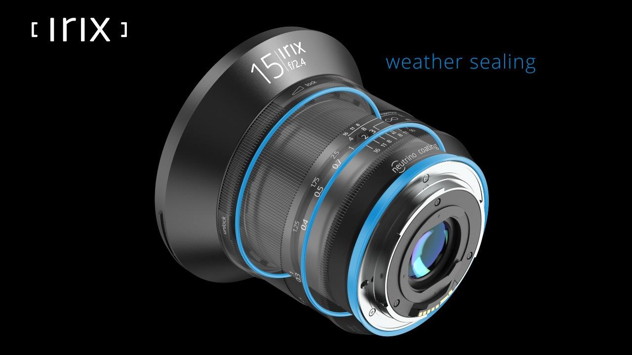 Irix weather sealing