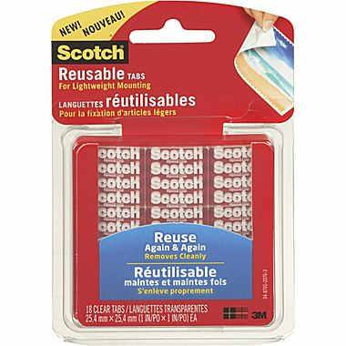 Scotch reusable mounting tabs for GoPro Mounts