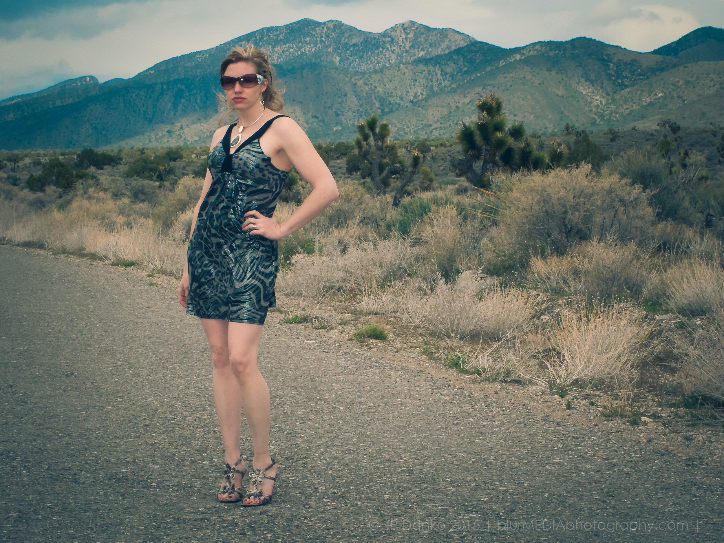 Cinematic Color Grading With Lightroom Desert Portrait Woman Near Las Vegas