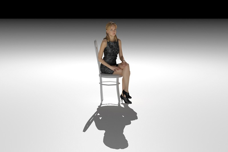 The shadow looks like the shape of the model seen from the photographerspoint of view.