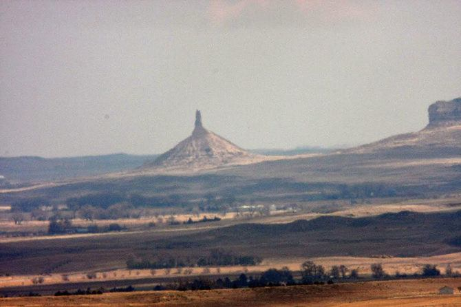 Chimney Rock from 20 miles away.