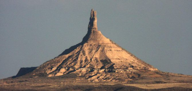 Chimney Rock from 7 miles away.