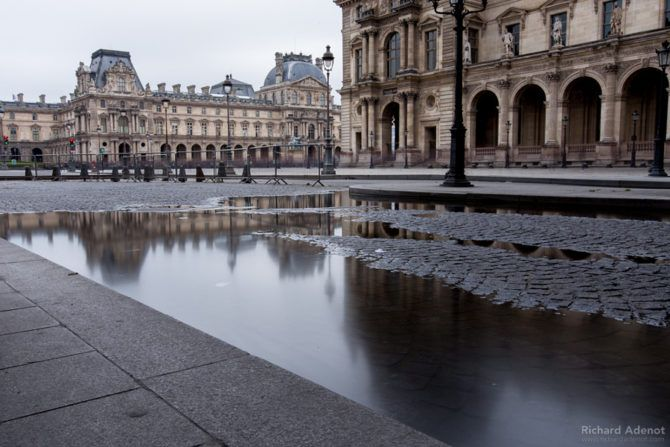The Louvre had closed their doors over the weekend and moved more than 150,000 valuable items to an upper level as the water could come from the ground and walls that would be at the same level as the Seine.