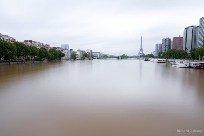 The Seine felt twice as wide as usual, it was quite the sight.