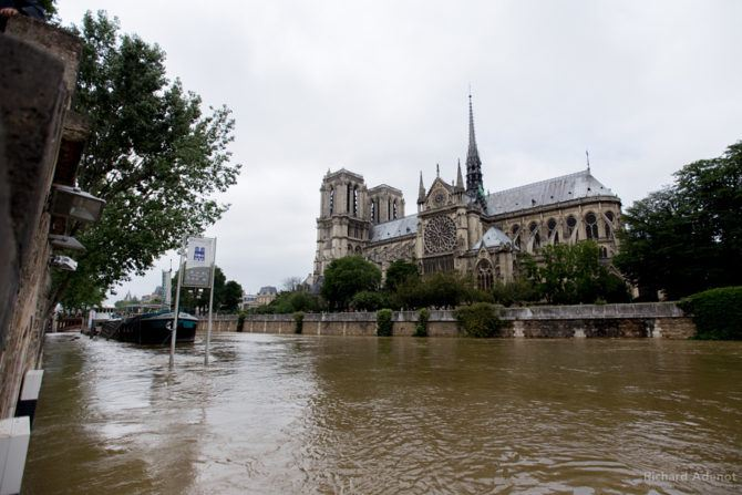 Even Notre Dame had closed it doors as water had found its way into a room containing a power transformer.