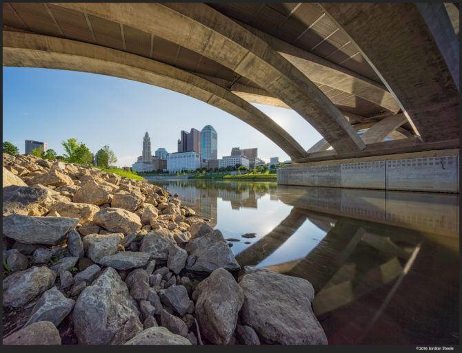 Columbus Under the Bridge – Sony A7 II with Voigtländer 10mm f/5.6 @ f/16