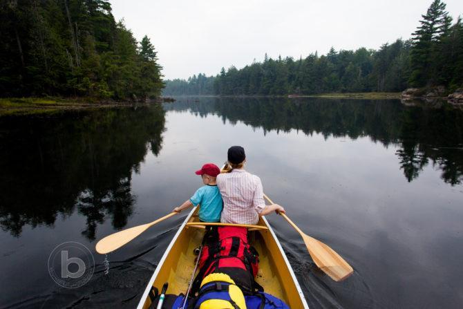 Family canoe trip to Algonquin Provincial park