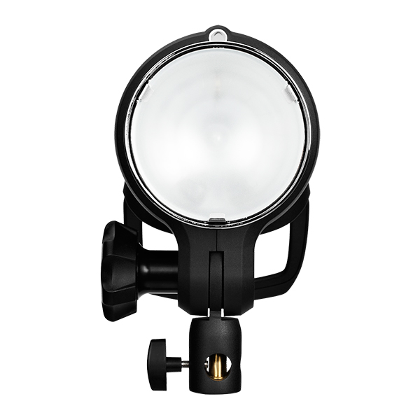 The front of the Profoto D2. 77 Degree built-in reflector and opal protective glass. The front of the light kept any water from entering the flash bulb housing, which was a great relief.