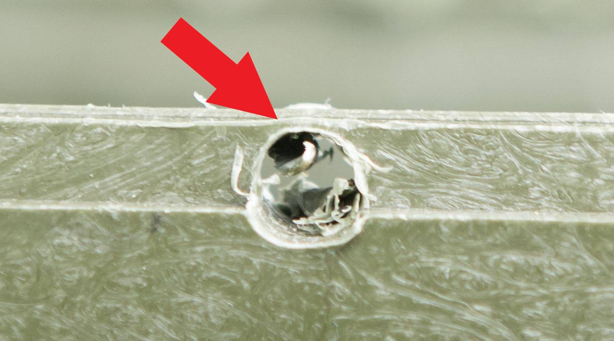 Sometimes not all the plastic will cut away. Just remove the top part with a hacksaw or the drill.