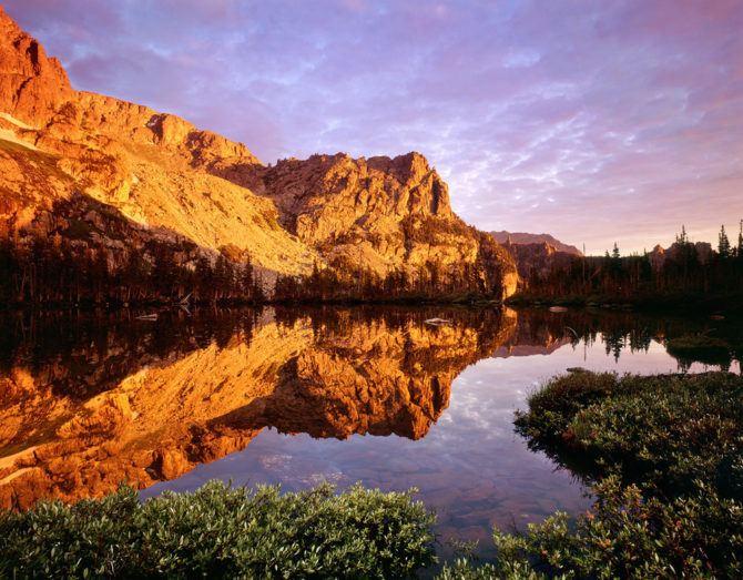 """Lake Helene Sunrise"" - Velvia 50 4x5, 75mm lens. 4 seconds at f22, 2 stop soft GND filter. A classic reflection scene."