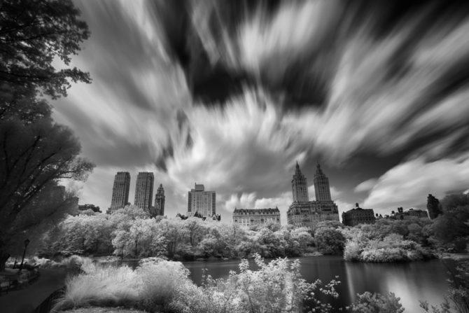 Central Park in Infrared 4 (Black & White)