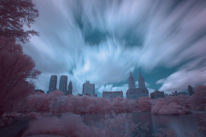 Central Park in Infrared (Channel Swapped)