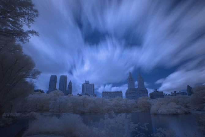 Central Park in Infrared 2 (Channel Swapped)