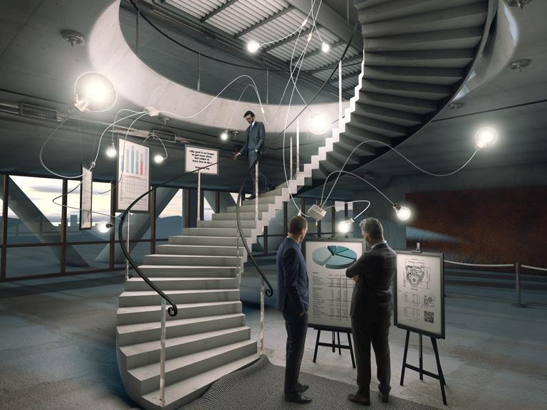 Connecting Ideas - Cinema 4D / Photoshop / studio photography (Pentax/Elinchrom)