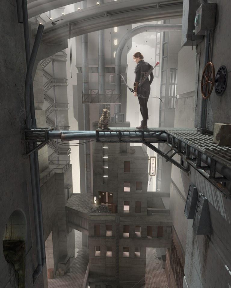 Hunger Games - The Random Encounter - Cinema 4D / V-Ray / Photoshop / studio photography (Pentax/Elinchrom)