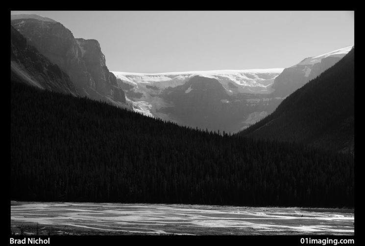 Subtle tonal rendering leads to very flexible monochrome conversions, this was captured at 70mm, f6.3 on the Sony NEX 5n near Banff in Canada in 2012.