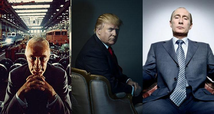 Donald Trump Vladimir Putin Alfred Krupp Time Magazine Person of the Year Portrait Photography