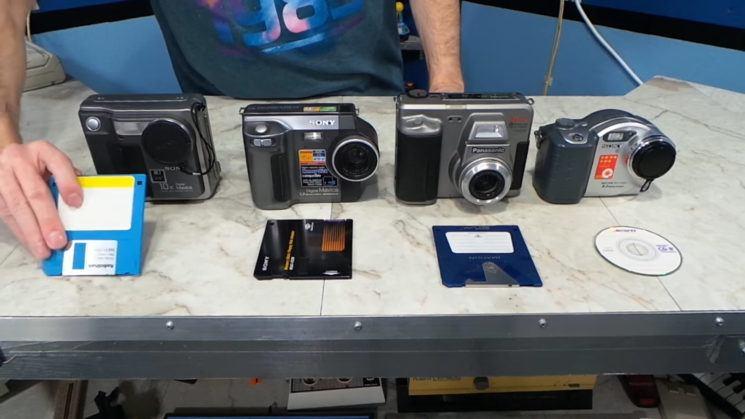 four_vintage_digital_cameras