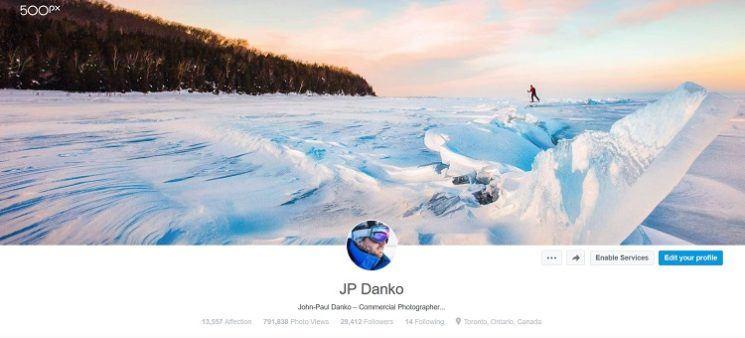 JP Danko 500px Header