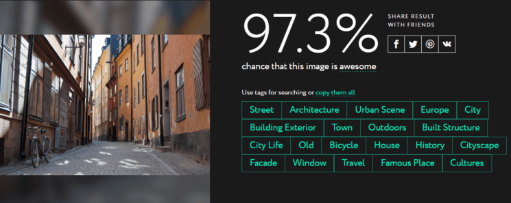 Everypixel Aesthetics uses neural networks to judge quality of your photos