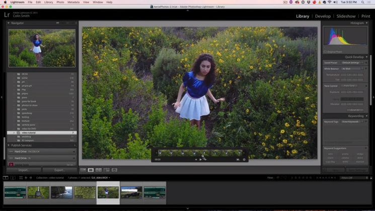 Did you know you can colour grade and edit videos in Adobe Lightroom?