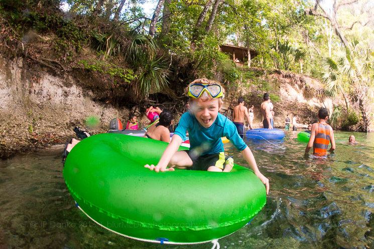 Blue Spring State Park Florida - Boy on Tube