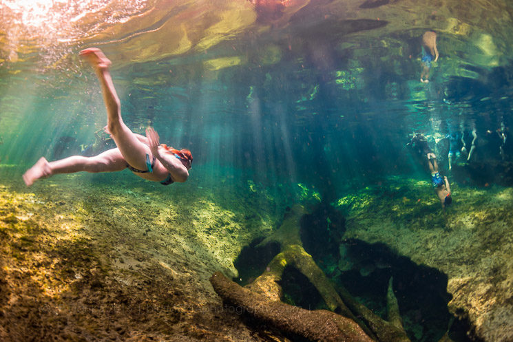Blue Spring State Park Florida - Woman Underwater