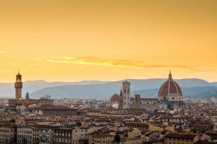 Firenze at Dusk with Lensbaby Velvet 85mm