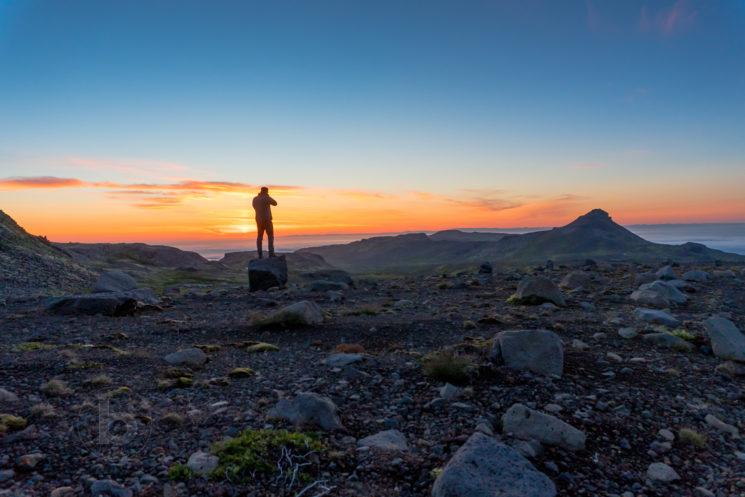 Midnight on the Snaefellsness Peninsula Iceland