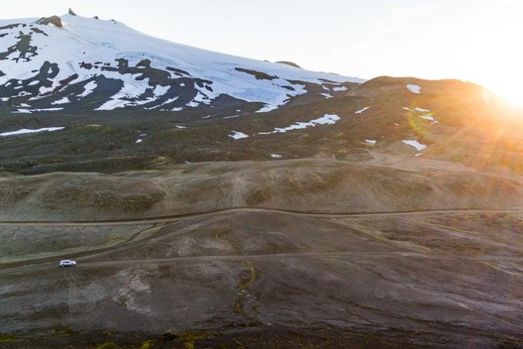 Near Snæfellsjökull Glacier on the Snaefellsnes Peninsula in western Iceland