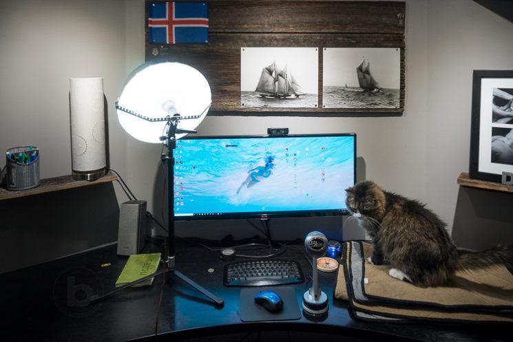 Ambient Webcam Lighting