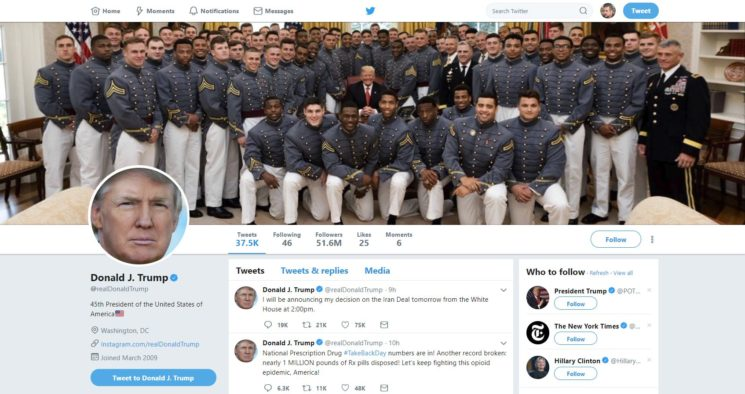 Funny Trump Twitter Banner Photo