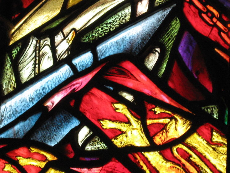 Stained glass, St Margaret's Chapel, Edinburgh