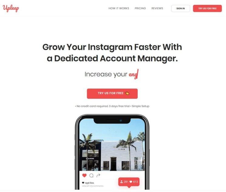 Upleap Review Instagram Follower Like Growth Service