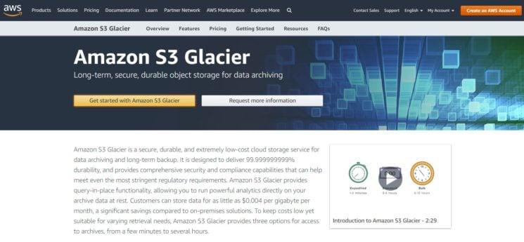 Amazon Glacier Backup
