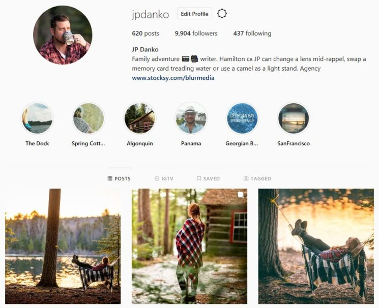 jpdanko Instagram title page