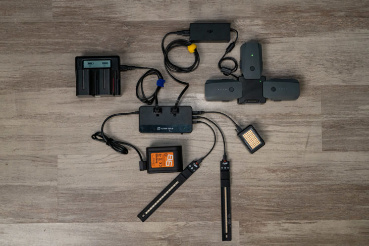 Tether Tools ONsite charging many accessories